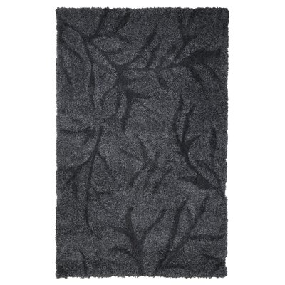 Northumberland Hand Woven Dark Grey Area Rug Rug Size: 4 x 6
