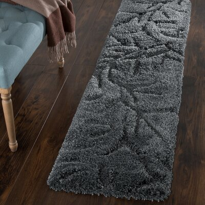 Northumberland Dark Grey Area Rug Rug Size: Runner 1'8