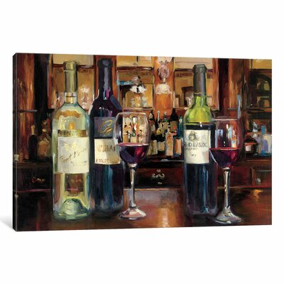 A Reflection of Wine Painting Print on Wrapped Canvas