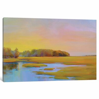 Summer Marsh II Original Painting on Wrapped Canvas