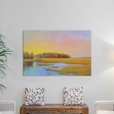 Summer Marsh II Painting on Wrapped Canvas Size: 12