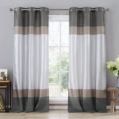 Alcott Hill Everson Grommet Curtain Panels