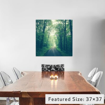 Forest Road Photographic Print on Wrapped Canvas Size: 12