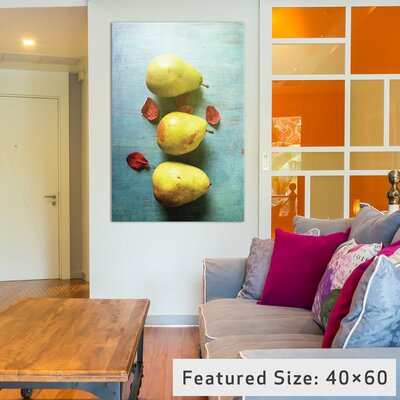 Three Pears Photographic Print on Wrapped Canvas Size: 12