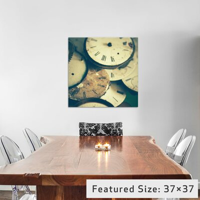 Time Flies Photographic Print on Wrapped Canvas Size: 12