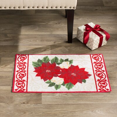 Kennedy Court Poinsettia Doormat