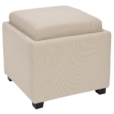 Dogwood Storage Ottoman Upholstery: Taupe