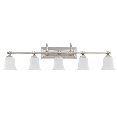 Adelphi 5-Light Vanity Light Finish: Brushed Nickel