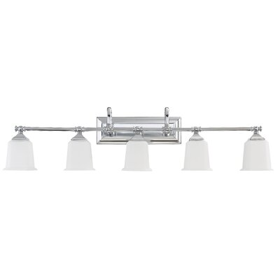 Adelphi 5-Light Vanity Light Finish: Polished Chrome