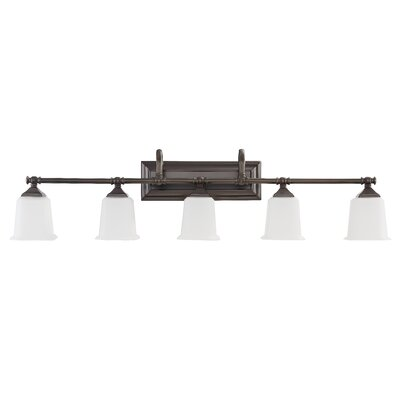 Adelphi 5-Light Vanity Light Finish: Harbor Bronze