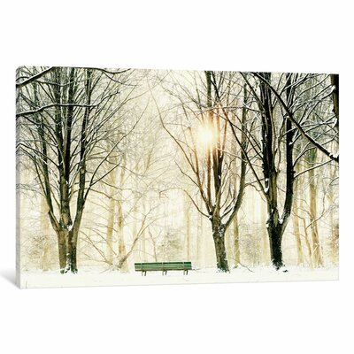 Too Cold To Sit Painting Print on Wrapped Canvas