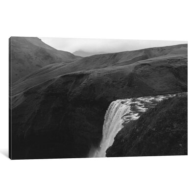Sunset At Skogafoss Photographic Print on Wrapped Canvas