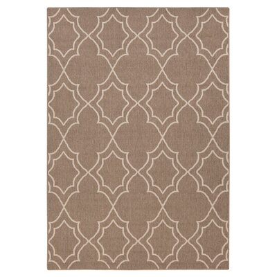 Amato Beige Indoor/Outdoor Area Rug Rug Size: 5'3
