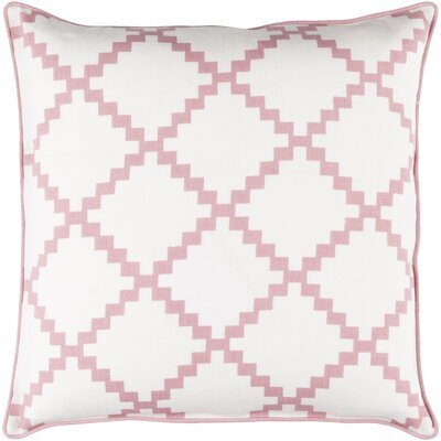Eversole 100% Linen Throw Pillow Cover Size: 22 H x 22 W x 0.25 D, Color: NeutralPink