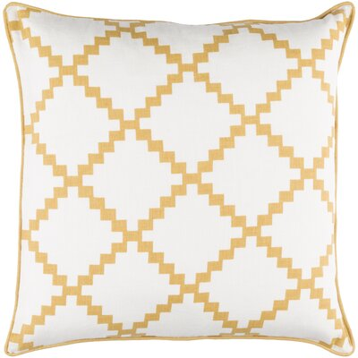Eversole 100% Linen Throw Pillow Cover Size: 18 H x 18 W x 0.25 D, Color: NeutralYellow