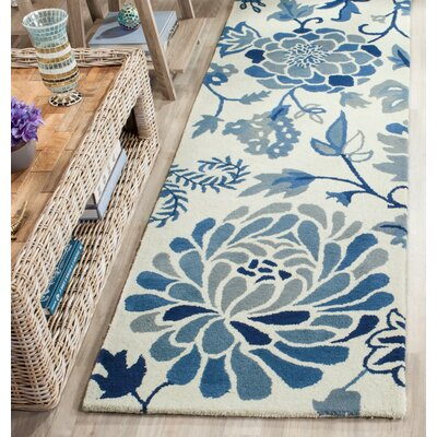 Martha Stewart Hand-Tufted Azurite Area Rug Rug Size: Rectangle 26 x 43