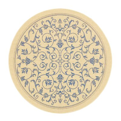 Bacall All Over Vine Indoor/Outdoor Area Rug Rug Size: Round 67