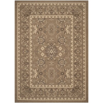 Bacall Brown / Creme Indoor / Outdoor Area Rug Rug Size: 53 x 77
