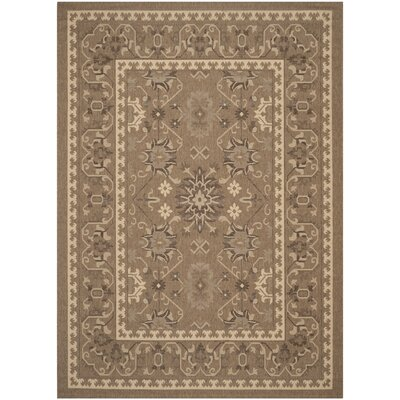 Bacall Brown / Creme Indoor / Outdoor Area Rug Rug Size: 8 x 11