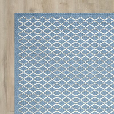 Bacall Blue / Beige Indoor / Outdoor Area Rug Rug Size: Runner 23 x 14