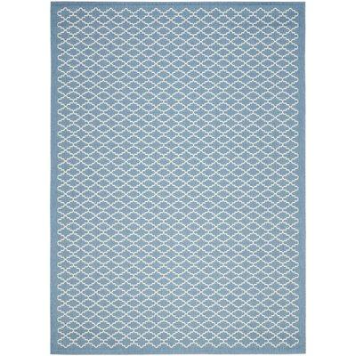 Bacall Blue / Beige Indoor / Outdoor Area Rug Rug Size: 4 x 57