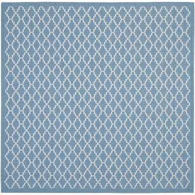 Bacall Blue / Beige Indoor / Outdoor Area Rug Rug Size: Square 4'