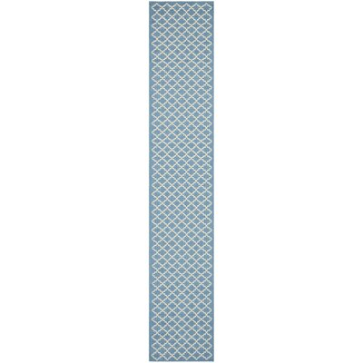 Bacall Blue / Beige Indoor / Outdoor Area Rug Rug Size: Runner 23 x 20
