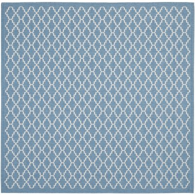 Bacall Blue / Beige Indoor / Outdoor Area Rug Rug Size: Square 710