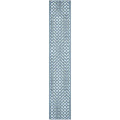 Bacall Blue / Beige Indoor / Outdoor Area Rug Rug Size: Runner 27 x 5