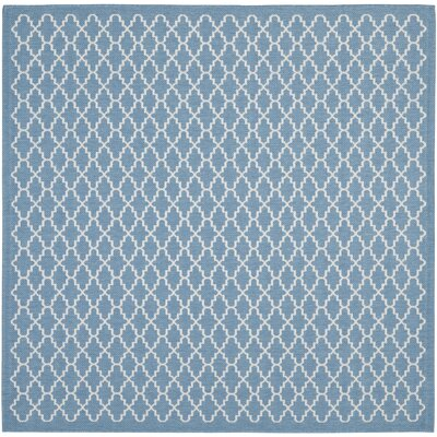 Bacall Blue / Beige Indoor / Outdoor Area Rug Rug Size: Square 67