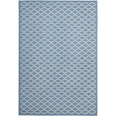Bacall Blue / Beige Indoor / Outdoor Area Rug Rug Size: 67 x 96
