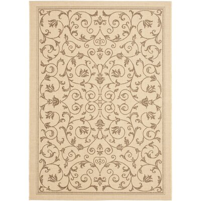 Bexton Beige/Brown Outdoor/Indoor Area Rug Rug Size: 53 x 77