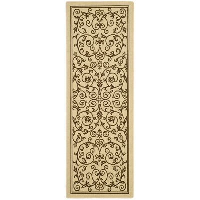 Bexton Beige/Brown Outdoor/Indoor Area Rug Rug Size: Runner 23 x 12
