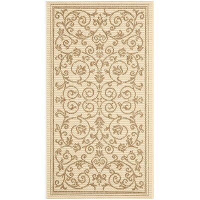 Bexton Beige/Brown Outdoor/Indoor Area Rug