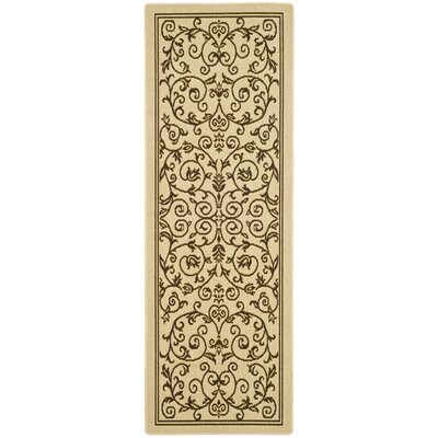 Bexton Beige/Brown Outdoor/Indoor Area Rug Rug Size: Runner 24 x 911