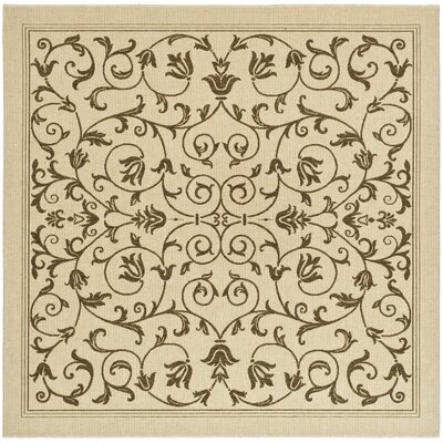 Bexton Beige/Brown Outdoor/Indoor Area Rug Rug Size: Square 710