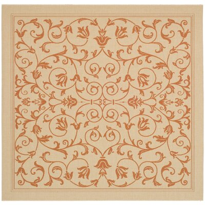 Bexton Beige/Red Outdoor/Indoor Area Rug Rug Size: Square 710