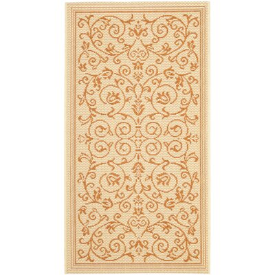 Bexton Beige/Red Outdoor/Indoor Area Rug