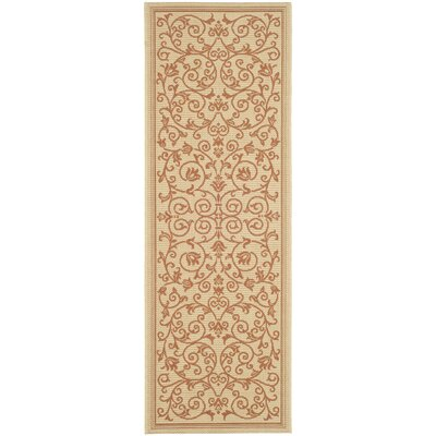 Bexton Beige/Red Outdoor/Indoor Area Rug Rug Size: Runner 24 x 67