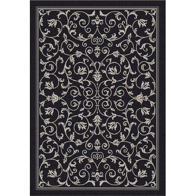 Bexton Black/Sand Outdoor Area Rug Rug Size: 53 x 77