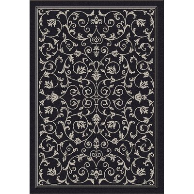 Bexton Black/Sand Outdoor Area Rug Rug Size: 67 x 96