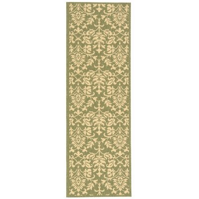 Bexton Olive/Natural Outdoor Area Rug Rug Size: Runner 24 x 67