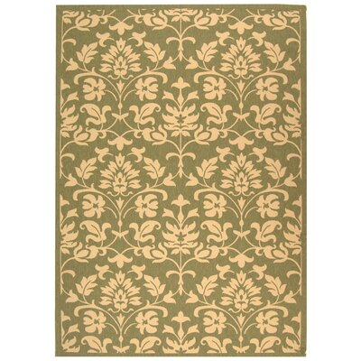 Bexton Olive/Natural Outdoor Area Rug Rug Size: 6'7