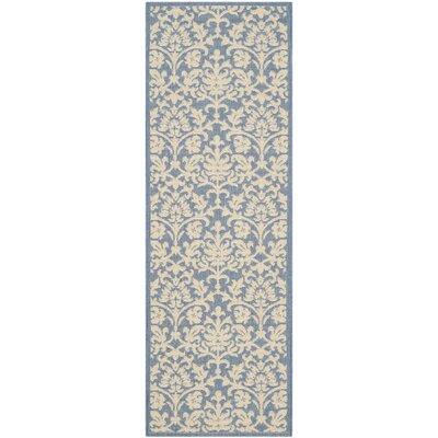 Bexton Blue/Natural Indoor/Outdoor Rug Rug Size: Runner 24 x 911