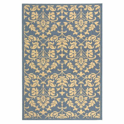 Bexton Blue/Natural Indoor/Outdoor Rug Rug Size: Rectangle 53 x 77