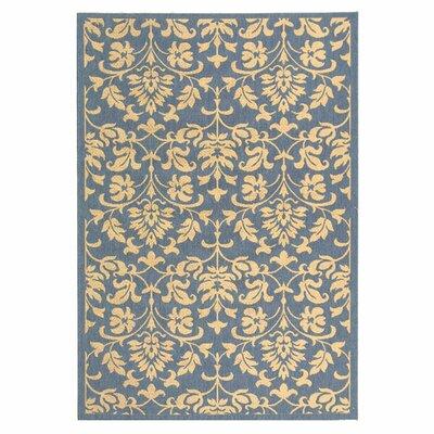 Bexton Blue/Natural Indoor/Outdoor Rug Rug Size: 4 x 57