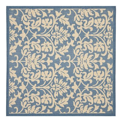 Bexton Blue/Natural Indoor/Outdoor Rug Rug Size: Square 67
