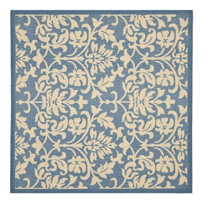 Bexton Blue/Natural Indoor/Outdoor Rug Rug Size: Square 710
