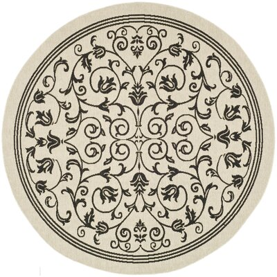 Bexton Gray Outdoor/Indoor Area Rug Rug Size: Round 67