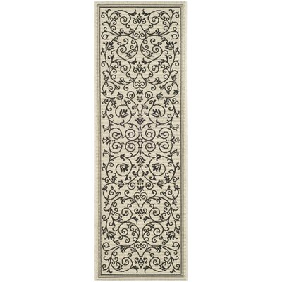 Bexton Gray Outdoor/Indoor Area Rug Rug Size: Rectangle 27 x 5